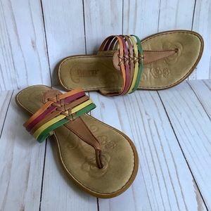 Born Flip Flop Sandals Size 8